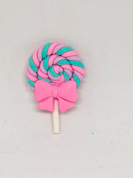 Pastel Dreams Lollipop Polymer Clay Needleminder