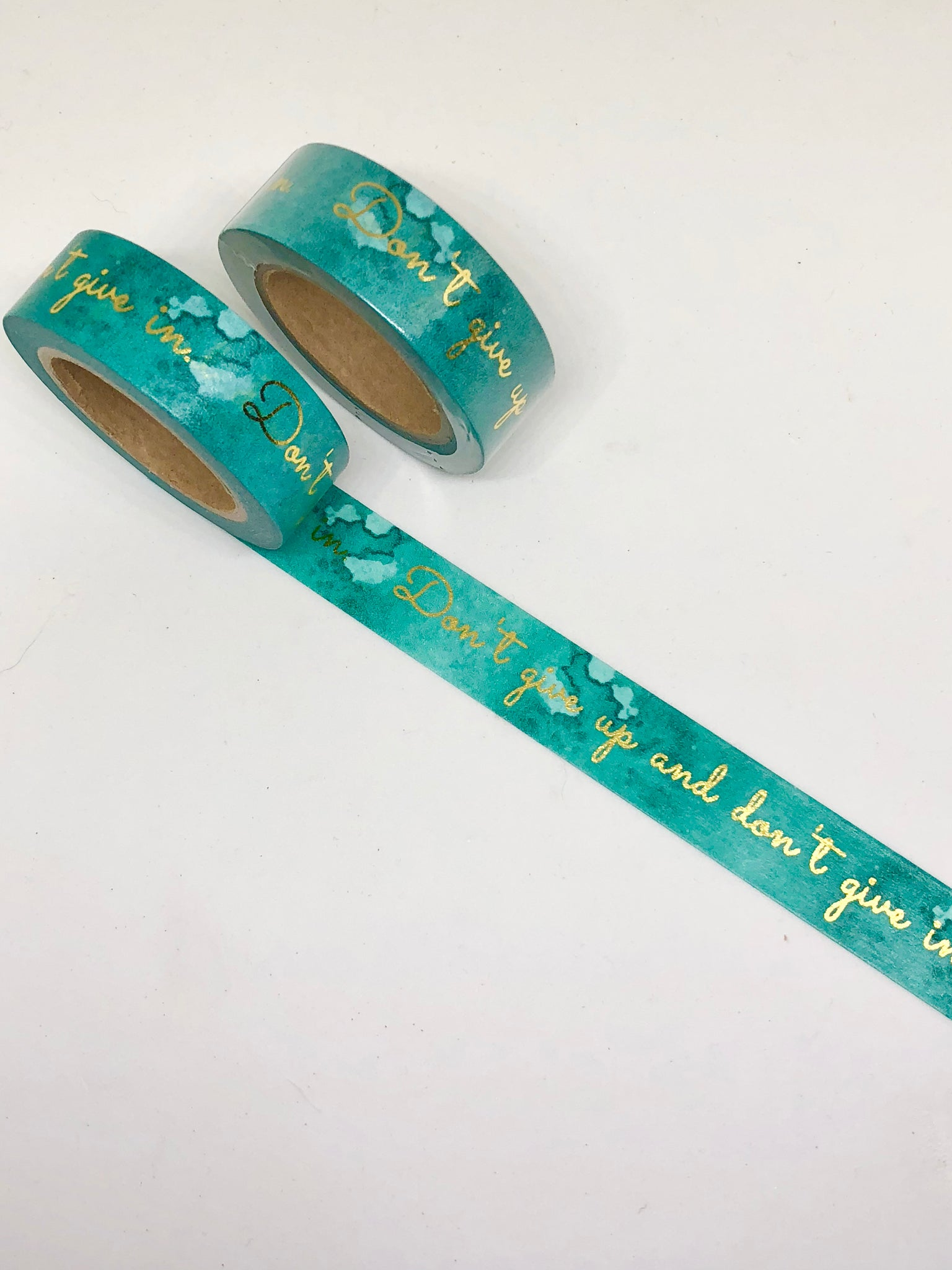 Teal Gold Foil/Motivational/Quote Washi Tape