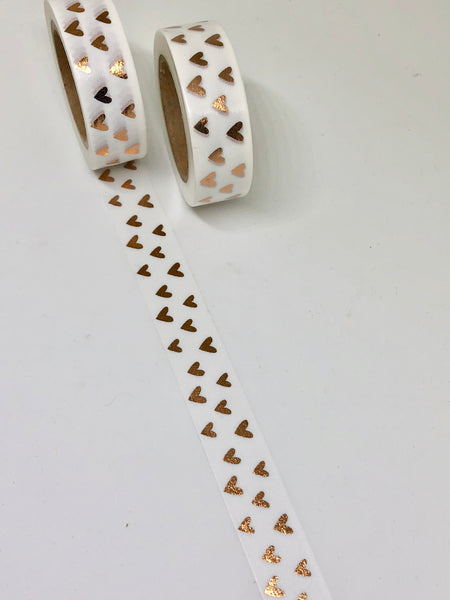 Heart Rose Gold Foil Washi Tape