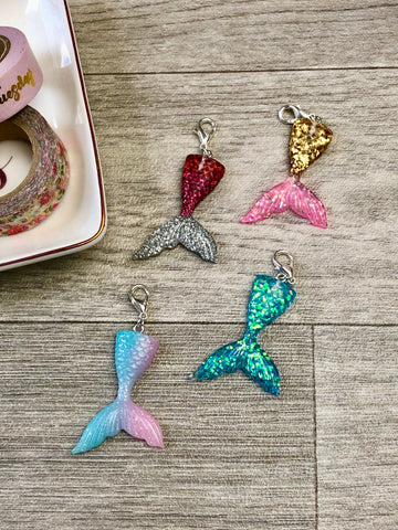 Sparkly Mermaid Tail Planner Charms