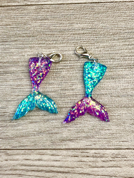 Galaxy Mermaid Tail Planner Charm