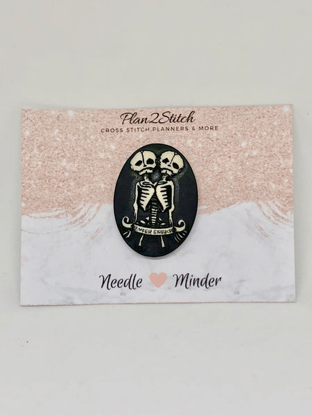 Antique Skeleton Twins Needleminder
