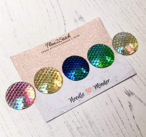 Mermaid Scale Dot Needleminders for Cross Stitch and Embroidery