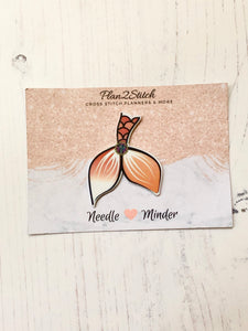 Amber Mermaid Tail Needleminder for Cross Stitch and Embroidery
