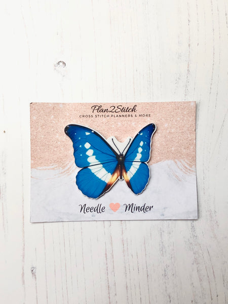 Blue Butterfly Needle Minder