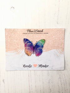 Glittery Butterfly Needle Minder