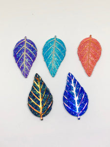 Sparkly Leaf Needleminder for Cross Stitch and embroidery