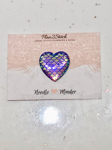 Mermaid Scale Purple Heart Needleminder