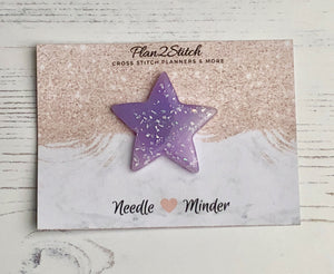 Purple Glitter Star Needle Minder