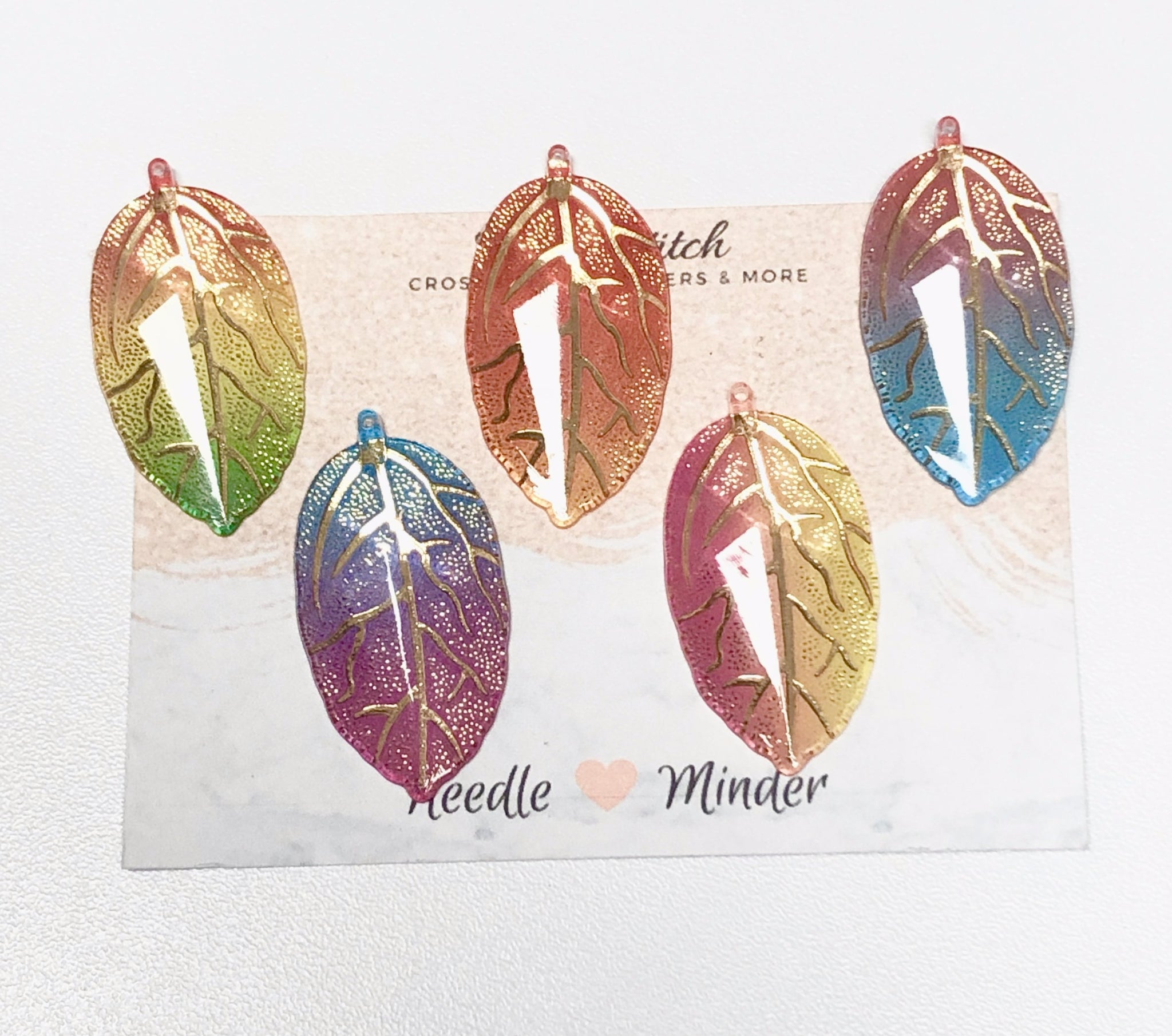 Leaf Needleminders for Cross Stitch, Embroidery and Sewing Projects