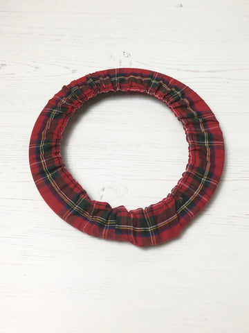Red Tartan Hoop Frame Cover, Grime Guard