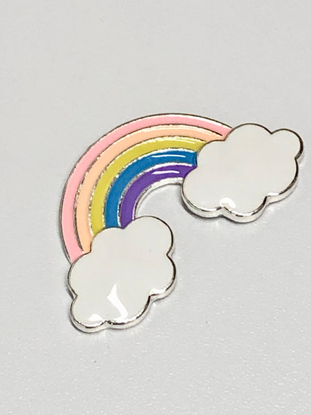 Pastel Rainbow Cloud Alloy Enamel Needle Minder