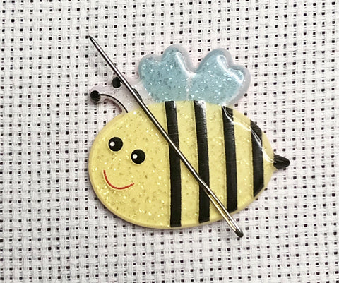 Bumbles the Bee Glittery Needle Minder