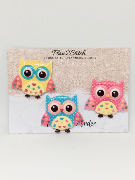 Colourful Owl Needleminder