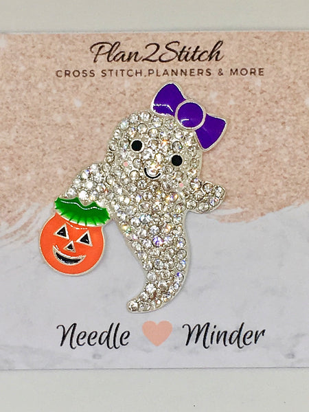Rhinestone Ghostie Alloy Needleminder