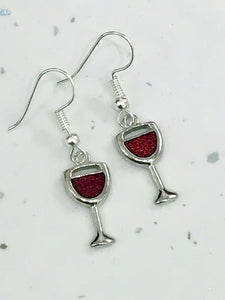 Red Wine Dangly Earrings