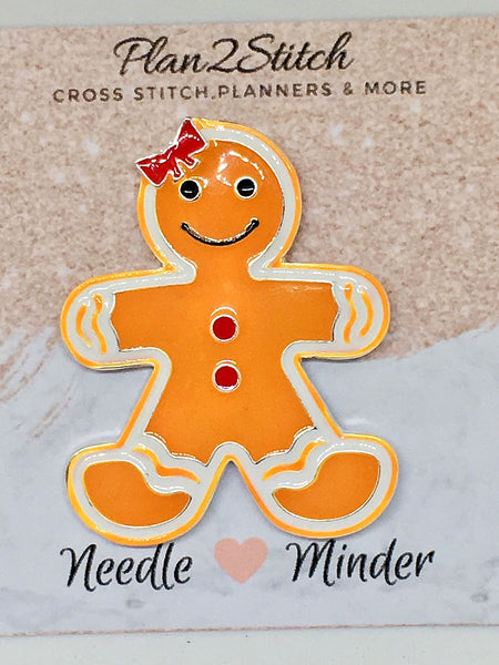 Gingerbread Man Alloy Needleminder