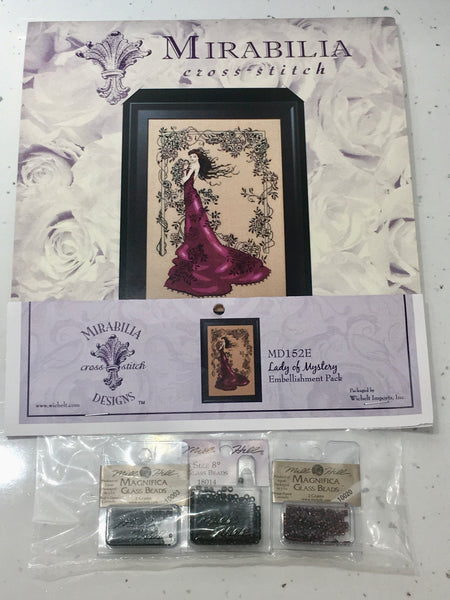 Lady Of Mystery Mirabilia MD152 Cross Stitch Chart/Embellishment Pack