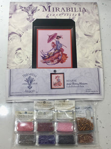 Miss Cherry Blossom MD153 Mirabilia MD141 Cross Stitch Chart/Embellishment Pack