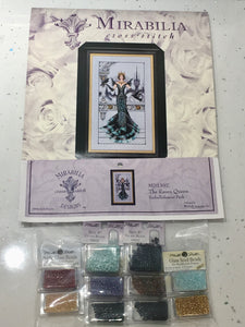 Raven Queen MD139 Mirabilia MD141 Cross Stitch Chart/Embellishment Pack