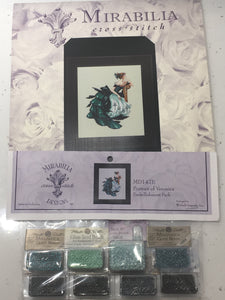 Portrait Of Veronica Mirabilia MD147 Cross Stitch Chart/Embellishment Pack