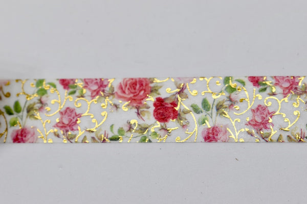 Rose Blush Gold Foil Washi Tape