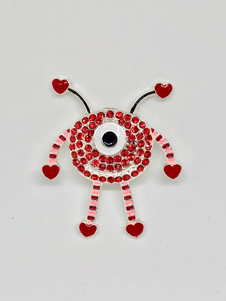Love Bug Rhinestone Alloy Needleminder