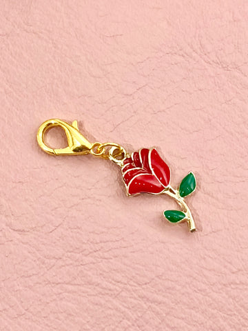 Red Rose Planner Charm