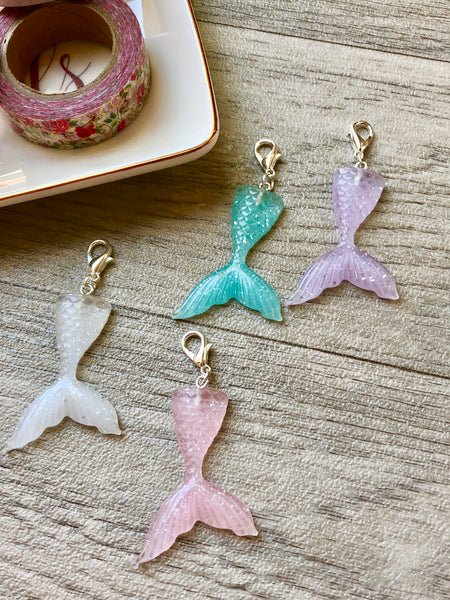 Glitter Mermaid Tail Planner Charm