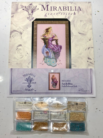 Sun Goddess Mirabilia MD155 Cross Stitch Chart/Embellishment Pack