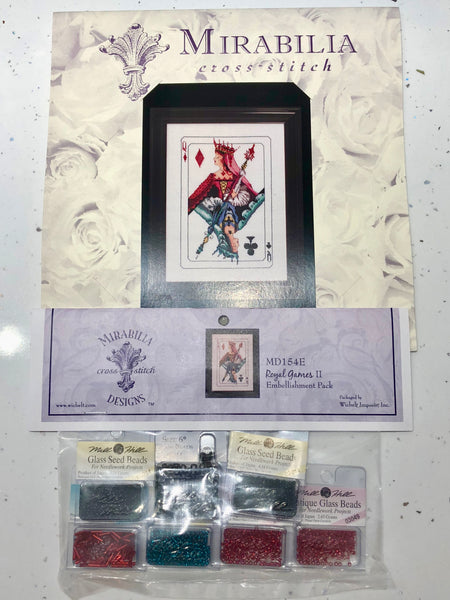 Royal Games II Mirabilia MD154 Cross Stitch Chart/Embellishment Pack