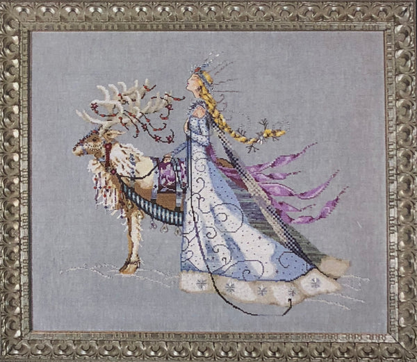 The Snow Queen Mirabilia MD143 Cross Stitch Chart/Embellishment Pack