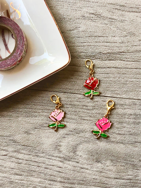 Pretty Rose Planner Charm