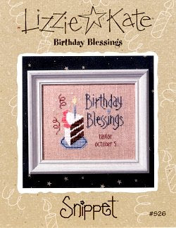 Birthday Blessings Snippet Lizzie Kate Chart