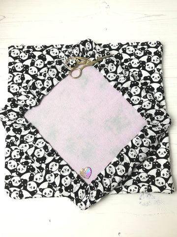 Panda Palooza Luxury Padded Project Bag, Q-Snap Frame Cover Set
