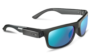 PogoCam wearable camera attached to PogoTrack sunglasses