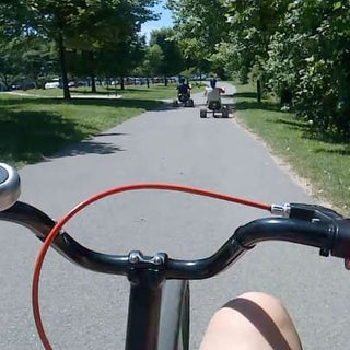 POV photo of riding a bike