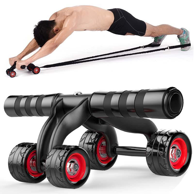 400kg Training Four Wheel Abdominal Power Wheel Exercise Ab Roller Core