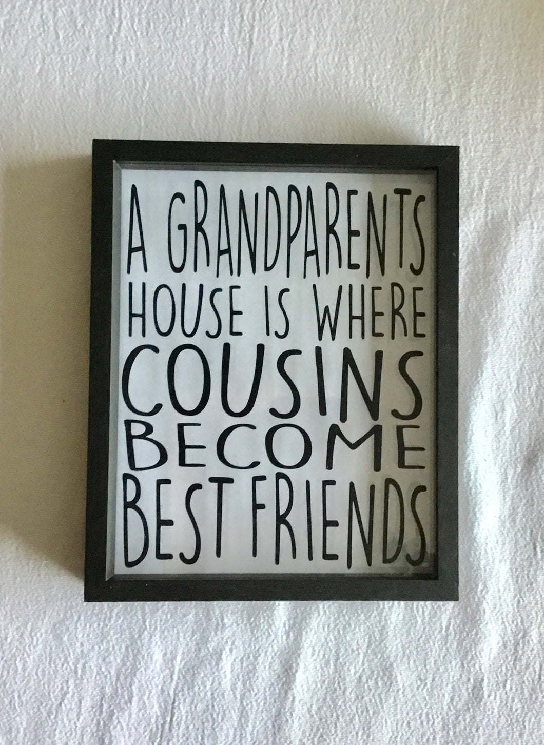 Grandparents and Cousins 8x10 Shadow Box