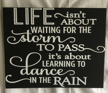 Dance in the Rain Wall Sign