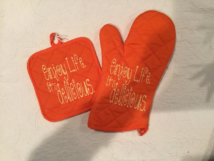 Enjoy Life It's Delicious Oven Glove/Hot Pad