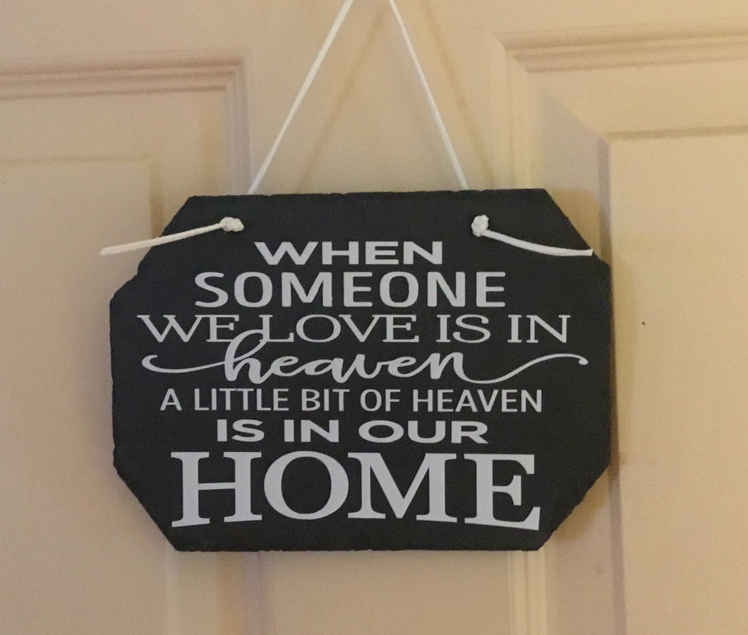 Someone in Heaven Wall Sign
