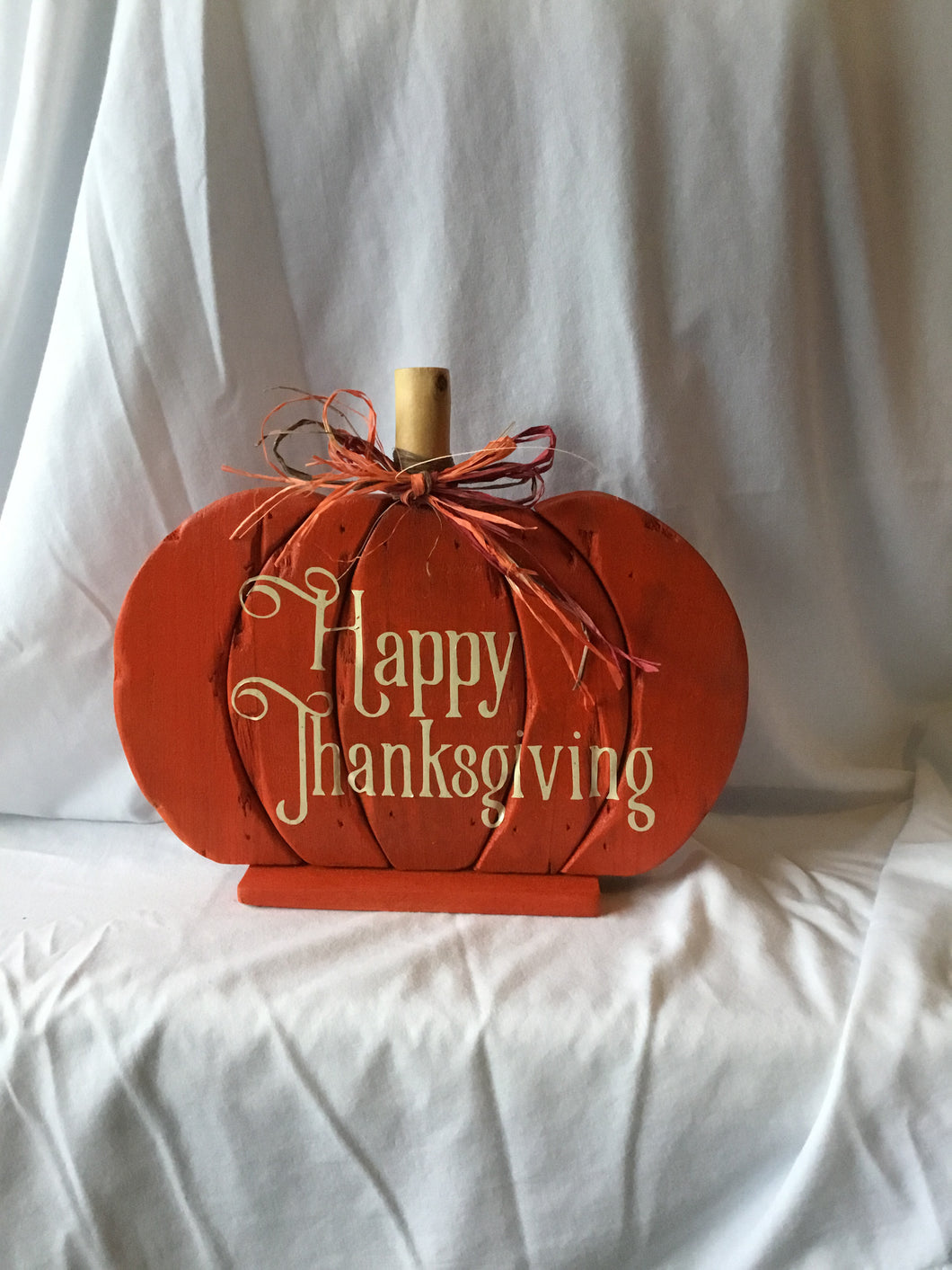 Happy Thanksgiving Wood Pumpkin