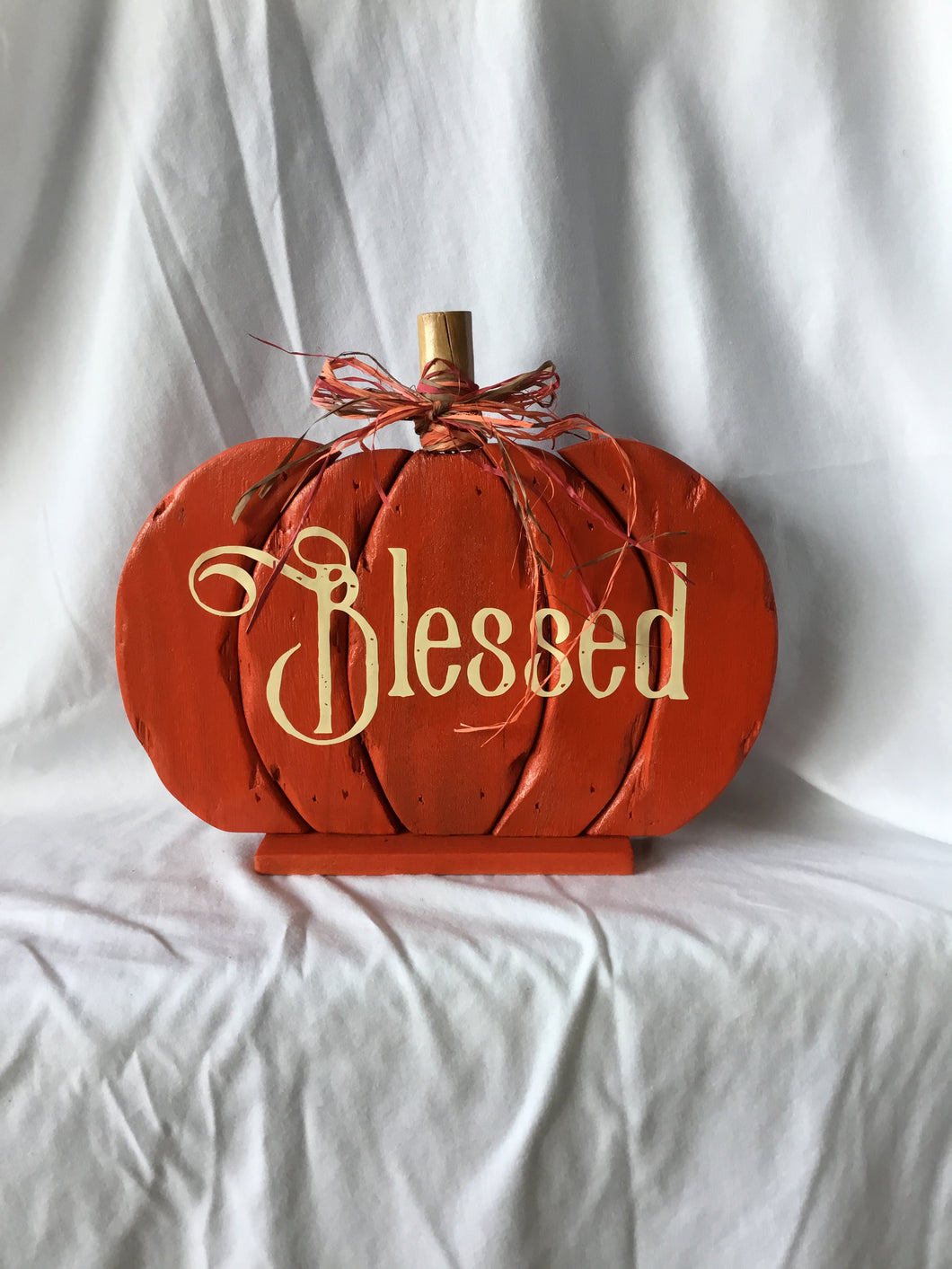 Blessed Wood Pumpkin