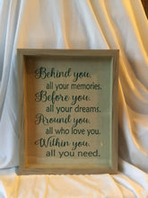 Behind You....Shadow Box Sign