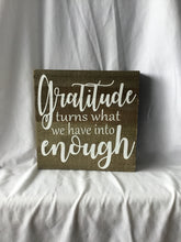 Gratitude Wood Plaque 10X10