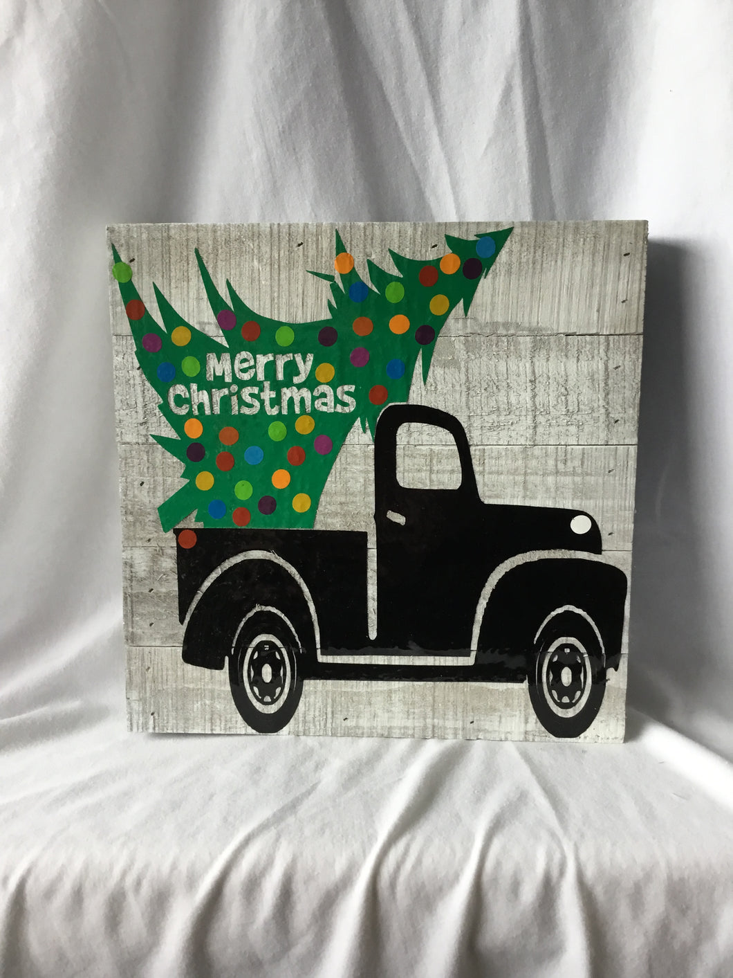 Merry Christmas 10x10 Wood Plaque