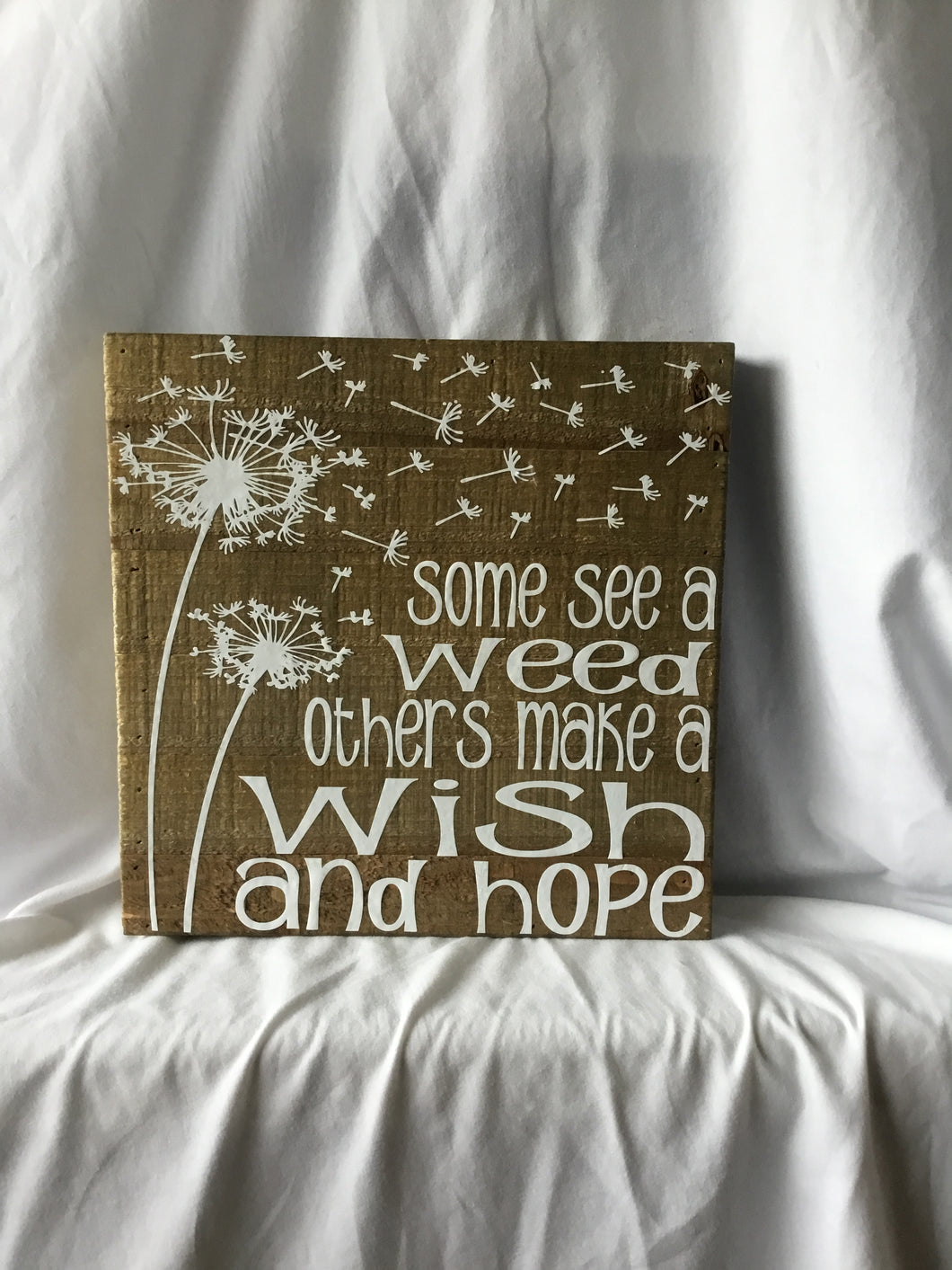 Wish and Hope Natural Wood Plaque