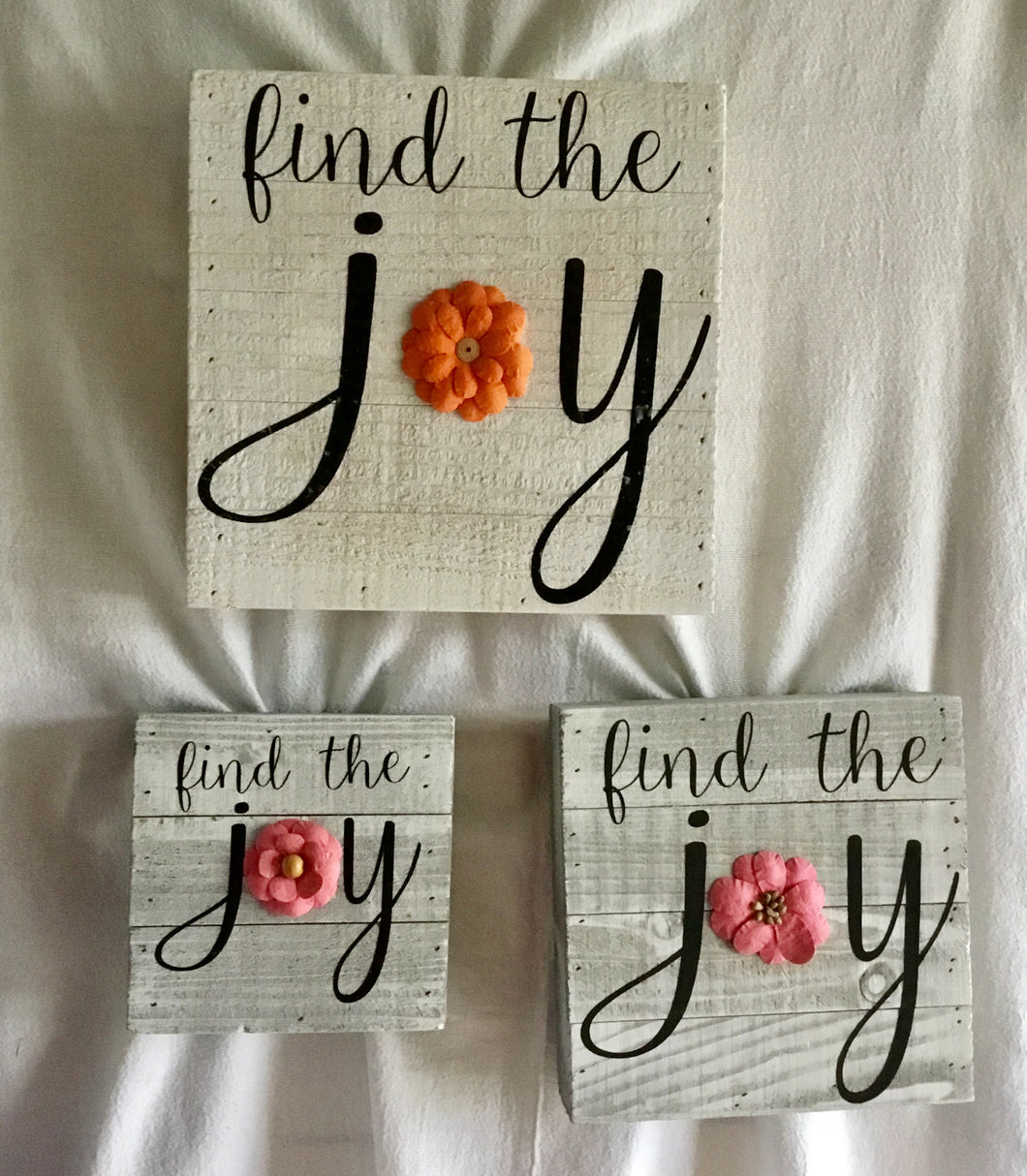 Find the Joy Wood Plaque