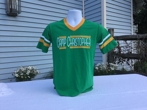 Retro Green/Yellow/White Camp Christopher T-Shirt.